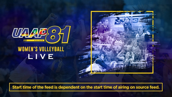 UAAP 81: Women's Volleyball LIVE