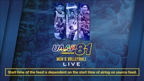UAAP 81: Men's Volleyball LIVE 20190424
